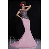 Panoply 14679 One-Shoulder Asymmetrical Bodice - One Shoulder Long Prom Panoply Trumpet Skirt Dress