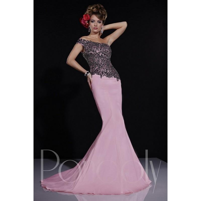 My Stuff, Panoply 14679 One-Shoulder Asymmetrical Bodice - One Shoulder Long Prom Panoply Trumpet Sk