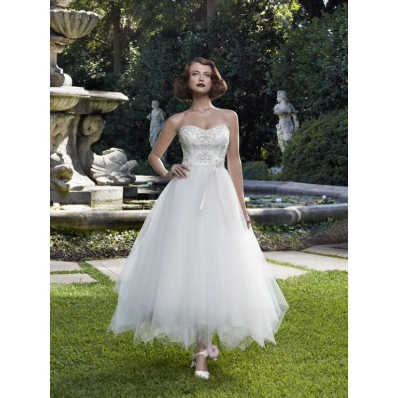 wedding, Casablanca Bridal 2063 - Casablanca Bridal Tea Length Full Skirt Sweetheart Wedding Dress -