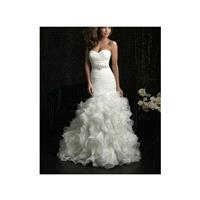 2017 A Line Beautiful Strapless Organza Layered Wedding Dress In Canada Wedding Dress Prices - dress