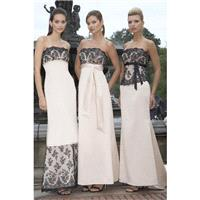 Charming Sheath/Column Strapless Appliques Lace Sashes/Ribbons Floor-length Satin Bridesmaid Dresses