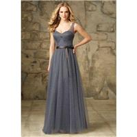 Like Princess V-Neck Tulle Gray Bridesmaid Gown 2017 - dressosity.com