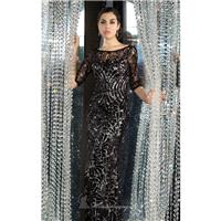Black/Nude Laced Long Gown by Alyce Black Label - Color Your Classy Wardrobe