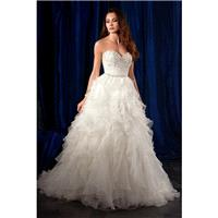 Style 981 by Alfred Angelo Sapphire Bridal Collection - Sweetheart Ballgown Semi-Cathedral Sleeveles