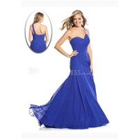 Chiffon Fit N Flare Asymmetric Waist Sleeveless One Shoulder Prom Dress - Compelling Wedding Dresses