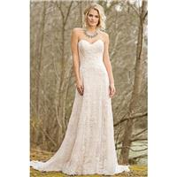 Style 6466 by Lillian West - Floor length A-line Chapel Length Sweetheart Sleeveless Lace Dress - 20