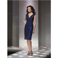 Navy Blue Sugarplum Social Occasions by Mon Cheri 214844 Social Occasions by Mon Cheri - Top Design