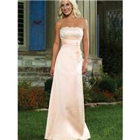 Refined Strapless Applique Empire Satin Floor Length Mother Of Bride Dress In Canada Mother of Bride