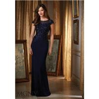 Navy MGNY Madeline Gardner New York 71417 MGNY by Mori Lee - Top Design Dress Online Shop