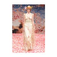 Claire Pettibone - Fall 2013 - Gold A-Line Wedding Dress with Floral Embroidery - Stunning Cheap Wed