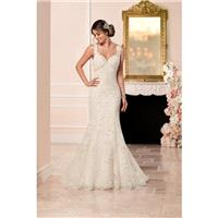 Style 6335 by Stella York - Sweetheart LaceOrganzaTulle Sleeveless Fit-n-flare Floor length Chapel L