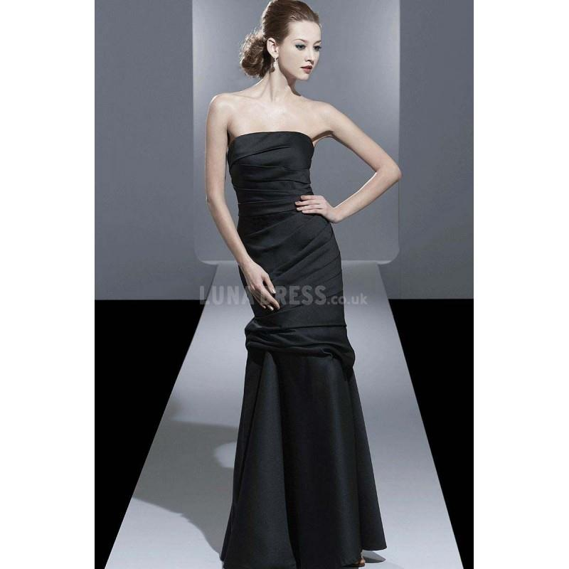 My Stuff, Mermaid Strapless Floor Length Satin Mother of the Bride Dress - Compelling Wedding Dresse