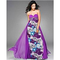 Splash Prom by Landa JC035 Grape/Fleur De Lis,Teal/Fleur De Lis Dress - The Unique Prom Store