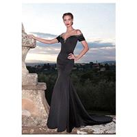 Glamorous Satin Off-The-Shoulder Neckline Mermaid Formal Dresses - overpinks.com