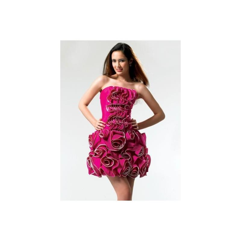 My Stuff, ME Prom Ruffles and Roses Short Prom Dress SR1392 - Brand Prom Dresses|Beaded Evening Dres