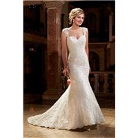 Style 6390 by Mary%27s Bridal - LaceTulle Cap sleeve Sweetheart Fit-n-flare Chapel Length Floor leng