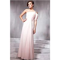 Best Sell One Shoulder Ruffled Graceful Princess Prom Dress With One Short Sleeve In Canada Prom Dre