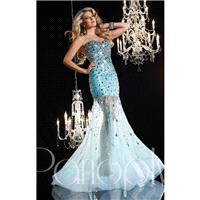 Aqua Panoply 14620 - Crystals Sequin Sheer Dress - Customize Your Prom Dress