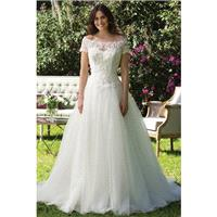 Style 3956 by Sincerity Bridal - Off-the-shoulder Short sleeve Ballgown LaceSatinTulle Chapel Length