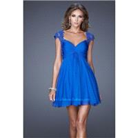 La Femme Short Cocktail 20682 Black,Electric Blue,Majestic Purple Dress - The Unique Prom Store