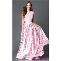 Pink Two-Piece Long Dave and Johnny Prom Dress - Discount Evening Dresses |Shop Designers Prom Dress
