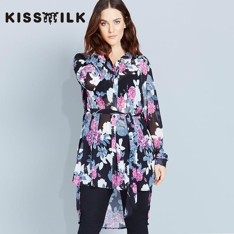My Stuff, Plus size women's clothing long fashion winter new style shirt dress printed lace shirt -