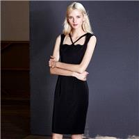Elegant summer dress new arc shaped hollow hip skinny little black dress professional women skirt dr