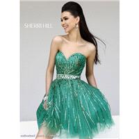 Designer Bodice Green Sequined Strapless Sweetheart Sherri Hill Dress 8522 - Cheap Discount Evening