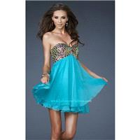 Aquamarine La Femme 18697 - Chiffon Crystals Cut-outs Sequin Dress - Customize Your Prom Dress