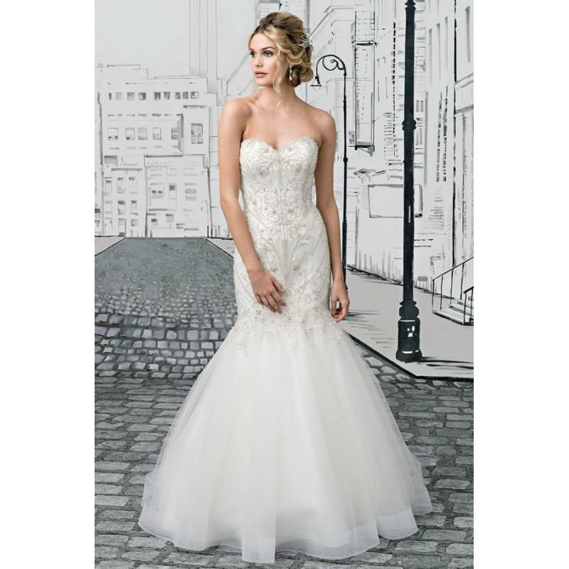 My Stuff, Style 8896 by Justin Alexander - Chapel Length Mermaid Sleeveless Tulle Floor length Sweet