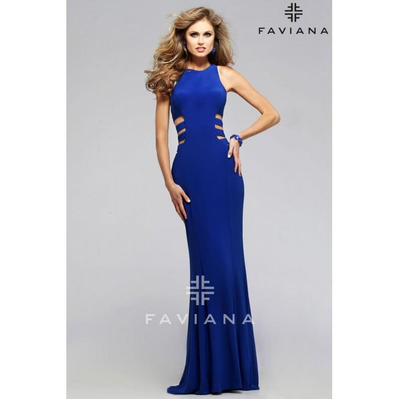 My Stuff, Faviana 7820 Royal,Purple,Black,Red Dress - The Unique Prom Store