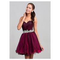 Charming Tulle A-line Sweetheart Neckline Short Homecoming Dress With Beadings & Rhinestones - overp