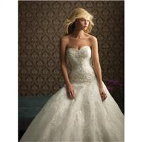 White/Silver Allure Bridals 8769 Allure Bridal Collection - Rich Your Wedding Day
