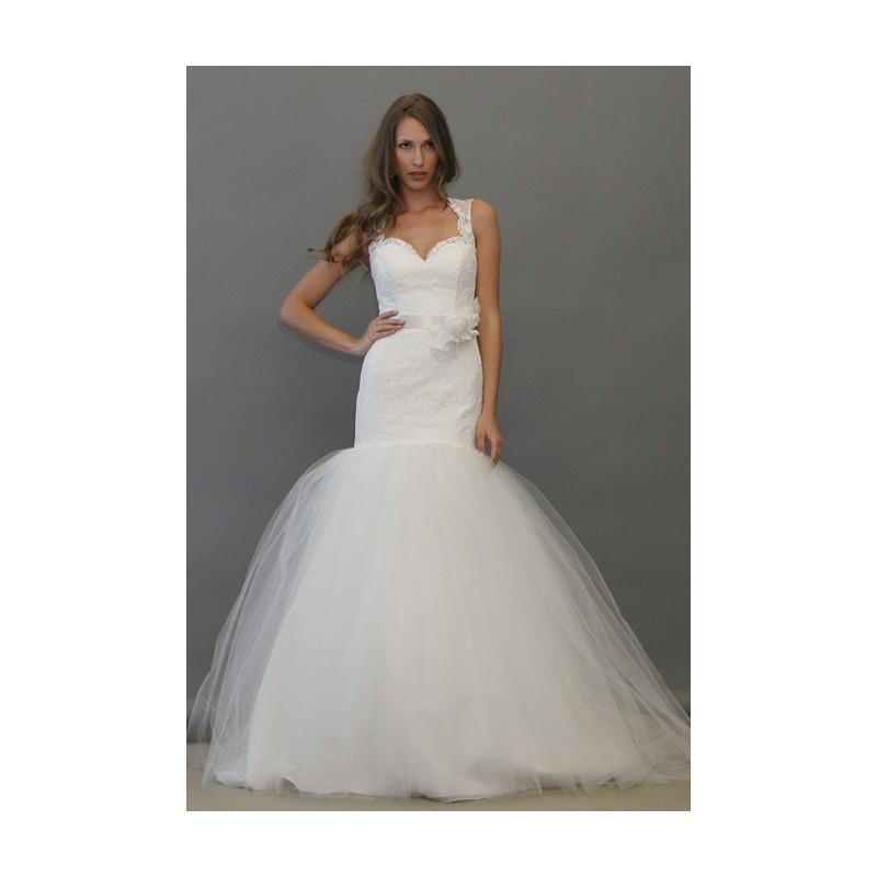 My Stuff, Tara Keely - Fall 2012 - Sleeveless Lace and Tulle Mermaid Wedding Dress - Stunning Cheap