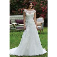 Style 3957 by Sincerity Bridal - OrganzaSatin Chapel Length Bateau Floor length Cap sleeve A-line Dr