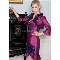 Fabulous Short Length Sheath/ Column Sweetheart Neckline With Taffeta Mother of the Bride Dress - Co