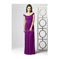 Pleasant Chiffon Floor Length Off the Shoulder Natural Waist Bridesmaid Dress - Compelling Wedding D