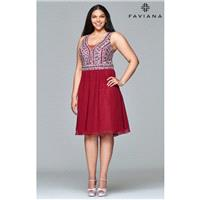 Merlot Faviana 9409 - Customize Your Prom Dress