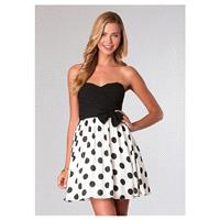 Fabulous Chiffon & Prints A-line Sweetheart Neckline Short Homecoming Dress With Handmade Bowknot -