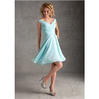 Nectarean A-line Off-the-shoulder Ruching Above Knee-length Chiffon Bridesmaid Dresses - Dressesular
