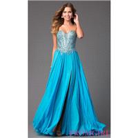 Floor Length Strapless Sweetheart Dress with Beaded Corset by Terani - Discount Evening Dresses |Sho