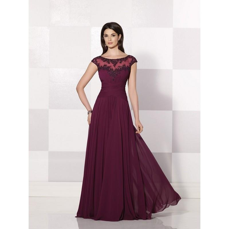 My Stuff, Cameron Blake 214683 Dress - Long Cameron Blake Fit and Flare Bateau Social and Evenings D