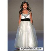Mori Lee flower girl dresses Style 990 Embroidery on Organza - Compelling Wedding Dresses|Charming B