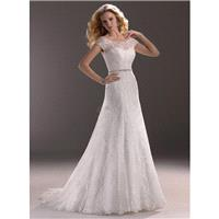 Maggie Sottero Fall 2013 - Style 3MS750 Jaclyn Dress with Beaded Belt and Jacket - Elegant Wedding D