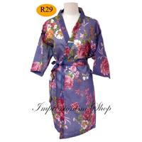 Flora Blue Violet Robes, For Bride Kimono, Robes bridesmaids robes,  Maid of honor, spa robe beac, C