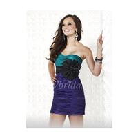 Sheath/Column Strapless Sweetheart Short/Mini Charmeuse Cocktail Dress With Ruffle Sash Bow - Beauti