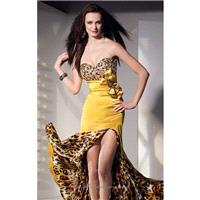 Gold Charmeuse Dress by Alyce Prom - Color Your Classy Wardrobe
