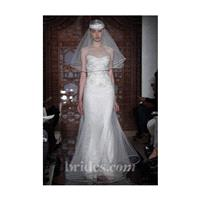Reem Acra - Fall 2013 - Melise Embroidered Illusion Lace A-Line Wedding Dress - Stunning Cheap Weddi