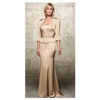 Jean De Lys Satin Chiffon Beaded Evening Dress 29447 by Alyce - Brand Prom Dresses|Beaded Evening Dr