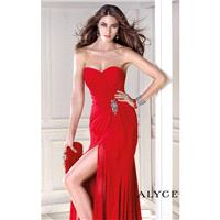 Red Strapless Beaded Gown by Alyce BDazzle - Color Your Classy Wardrobe